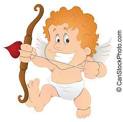 Cute Cartoon Cupid Illustration