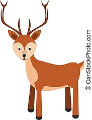 Cute cartoon deer vector illustration