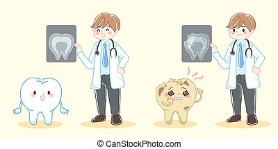 dentist with tooth