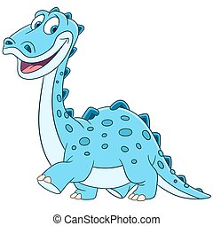 cute cartoon diplodocus