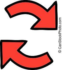 cute cartoon directional arrow - cute cartoon of a...