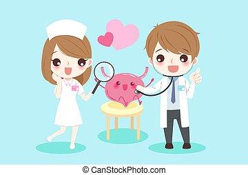 cartoon doctors with bladder