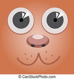 Cute cartoon dog face