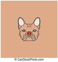 Cute cartoon dog head logo design