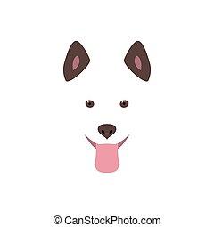 Cute cartoon dog head