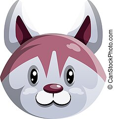 Cute cartoon dog vector illustration on white background