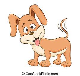 cute cartoon dog. vector
