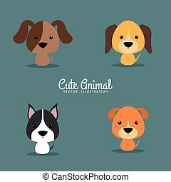 Cute Cartoon dogs
