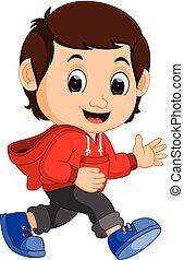 cute, cartoon, dreng