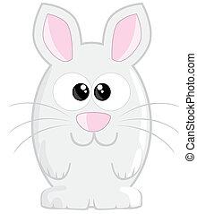 Cute cartoon easter bunny