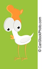 cute cartoon easter chicken vector funny animal character illustration