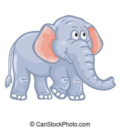 Cute cartoon elephant.