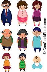cute cartoon family element