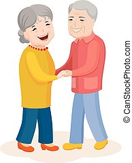 Cute cartoon family in colorful stylish clothes - Fun...