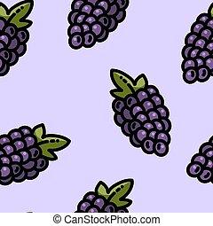 Cute cartoon flat style grapes seamless pattern