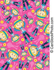 Hippie Girl Pattern