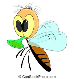 cute cartoon fly. vector illustration on a white background.