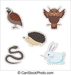 Cute Cartoon Forest Animals Stickers Collection - Cute...