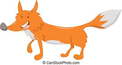 cute cartoon fox animal character
