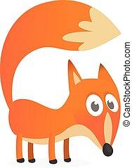 Cute cartoon fox character. Vector illustration