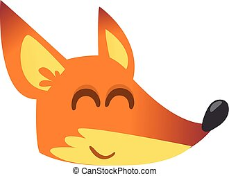 Cute cartoon fox
