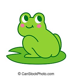Cute cartoon frog butt drawing. Funny illustration for...