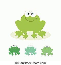 Cute cartoon frog.