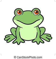 Cute cartoon frog