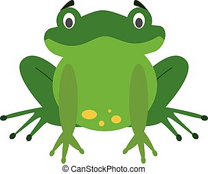 Cute cartoon frog vector illustration