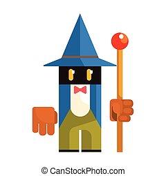 Cute cartoon garden gnome. Fairy tale, fantastic, magical colorful character