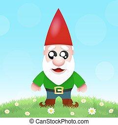 Cute Cartoon Garden Gnomes