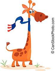 Cute cartoon giraffe character