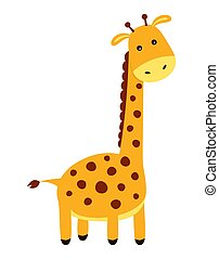 cute cartoon giraffe isolated on white background
