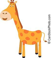 Cute cartoon giraffe vector illustration