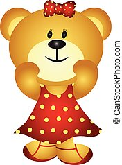 Cute Cartoon Girl Bear