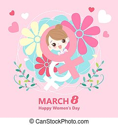 girl with happy womens day