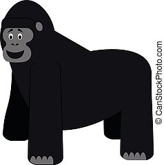 Cute cartoon gorilla vector illustration