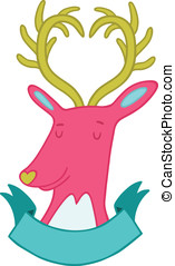 Cute cartoon hand drawn deer illustration