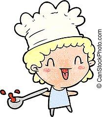 cute cartoon happy chef