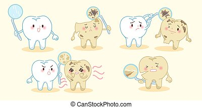 healthy tooth with decay