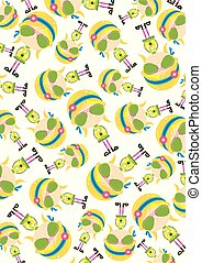Cute Cartoon Hippie in Shades Pattern