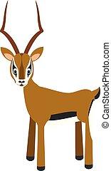 Cute cartoon impala vector illustration