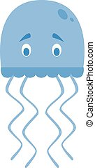 Cute cartoon jellyfish vector illustration