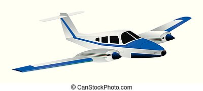 Cute cartoon jet isolated on a white background. Vector illustration.