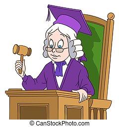 cute cartoon judge boy