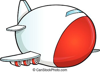 Cute Cartoon Jumbo Jet Vector art