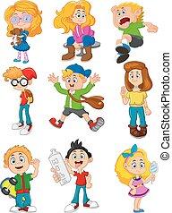 Cute cartoon kids
