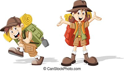 kids in explorer outfit