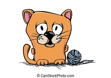 Cute cartoon kitty