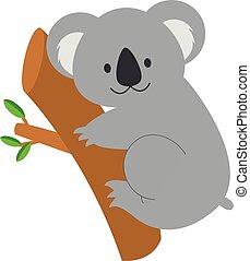 Cute cartoon koala vector illustration